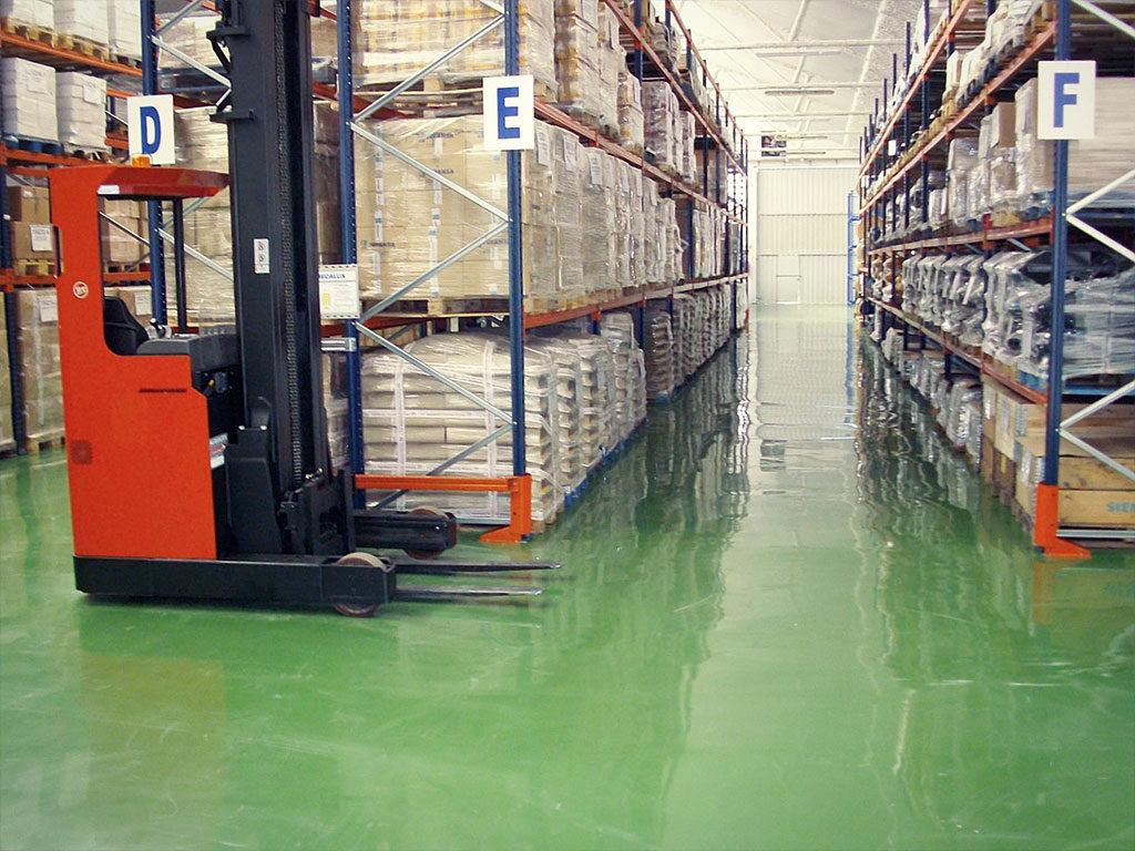 Pavimentos sector logístico